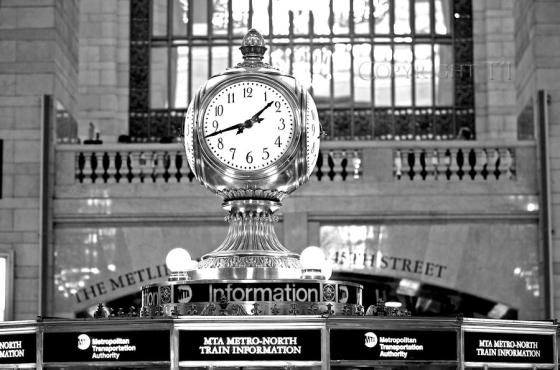 Information booth and clock in the center of Grand Central Terminal new york city nyc manhattan midtown